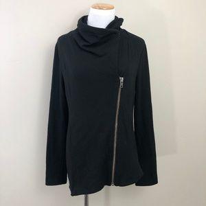 Helmut Lang Villous Asymmetrical Zippered Jacket